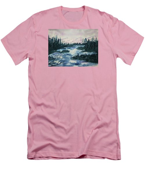Men's T-Shirt (Slim Fit) featuring the painting Serenity IIi by Ellen Levinson