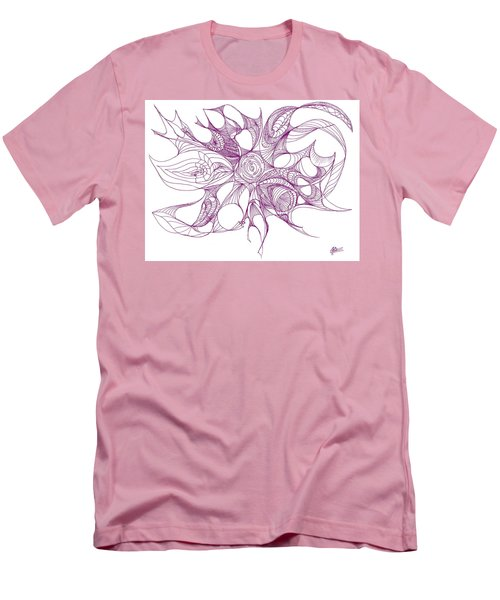 Serenity Swirled In Purple Men's T-Shirt (Slim Fit) by Charles Cater