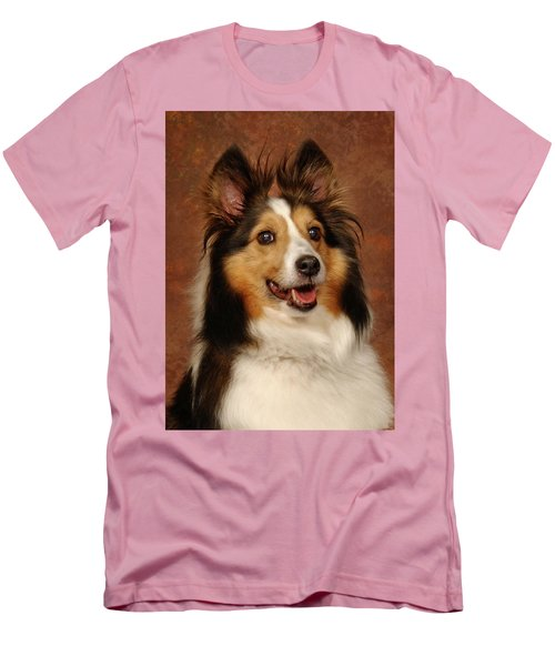 Men's T-Shirt (Slim Fit) featuring the photograph Sheltie by Greg Mimbs