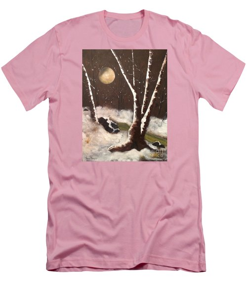 Men's T-Shirt (Slim Fit) featuring the painting Silent Night by Denise Tomasura