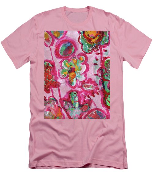 Silly Flowers Men's T-Shirt (Athletic Fit)