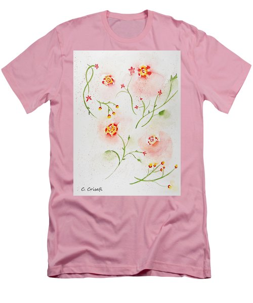 Simple Flowers #2 Men's T-Shirt (Slim Fit) by Carol Crisafi