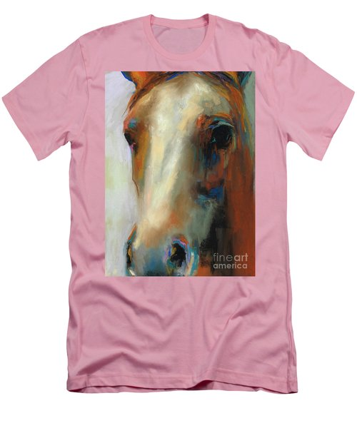 Simple Horse Men's T-Shirt (Slim Fit) by Frances Marino