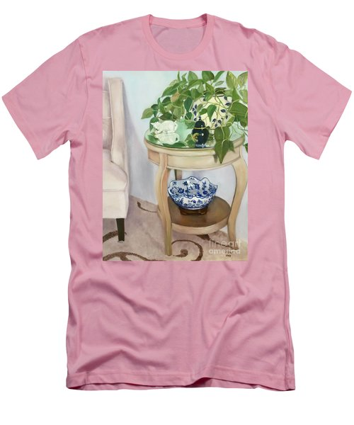 Men's T-Shirt (Athletic Fit) featuring the painting Sitting Pretty by Marlene Book