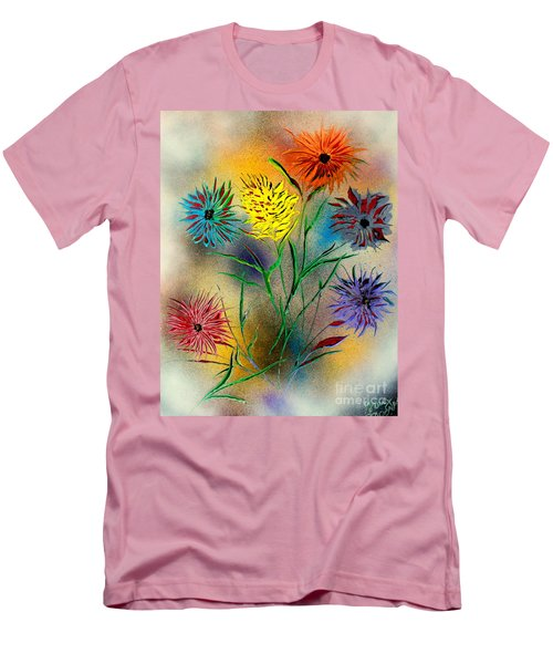 Six Flowers - E Men's T-Shirt (Slim Fit) by Greg Moores