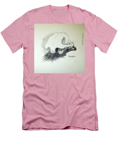 Men's T-Shirt (Slim Fit) featuring the painting Sketch Of Sera.10.03 by Ray Agius