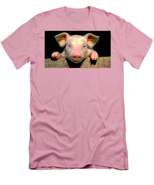 Smart Pig Men's T-Shirt (Slim Fit) by Charles Shoup