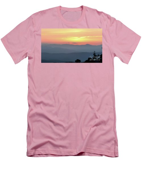 Smokey Mnt Sunset Men's T-Shirt (Athletic Fit)