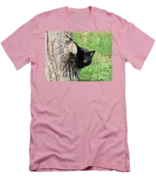 Sneaky Cat Men's T-Shirt (Athletic Fit)