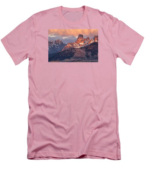 Snow On Chimney Rock Men's T-Shirt (Athletic Fit)