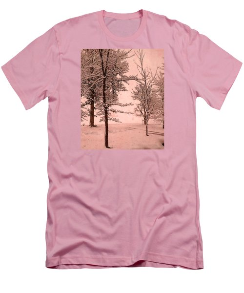 Snowy Day In Rose Men's T-Shirt (Athletic Fit)
