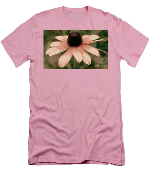 Soft Delicate Pink Daisy Men's T-Shirt (Slim Fit) by Judy Palkimas