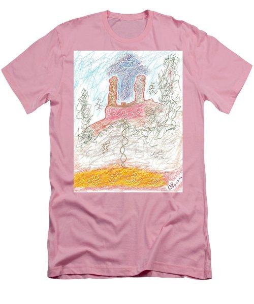 Soul Mates Men's T-Shirt (Slim Fit) by Mark David Gerson