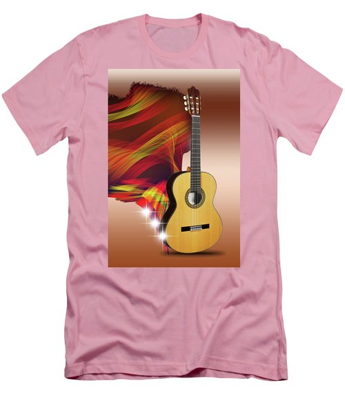 Spanish Guitar Men's T-Shirt (Athletic Fit)