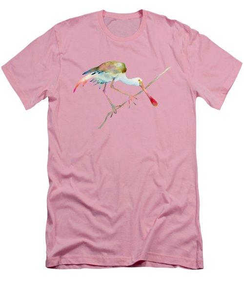 Spoonbill  Men's T-Shirt (Slim Fit) by Amy Kirkpatrick