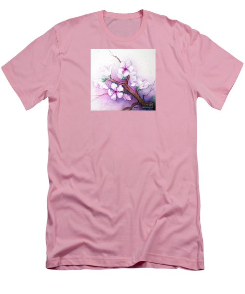 Spring Blooms Men's T-Shirt (Slim Fit) by Rebecca Davis