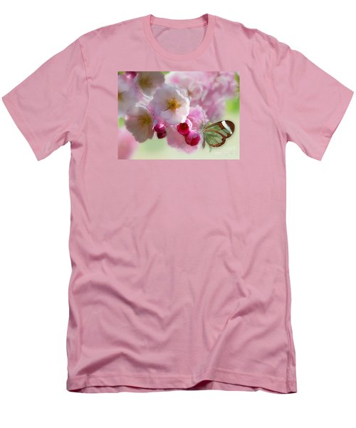 Spring Cherry Blossom Men's T-Shirt (Slim Fit) by Morag Bates