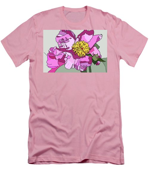 Spring Pink Men's T-Shirt (Slim Fit) by Jamie Downs
