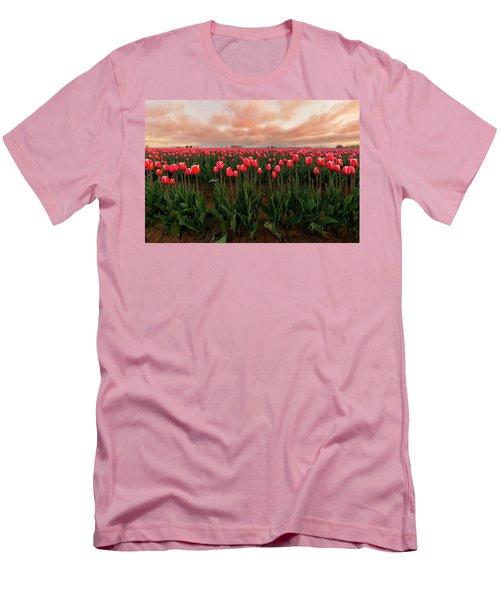 Spring Rainbow Men's T-Shirt (Athletic Fit)