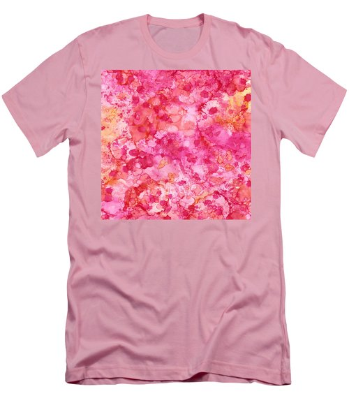 Spring Rose Abstract Men's T-Shirt (Slim Fit) by Patricia Lintner