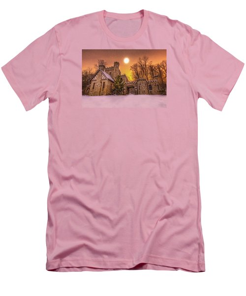 Men's T-Shirt (Slim Fit) featuring the photograph Squires Castle In The Winter by Brent Durken