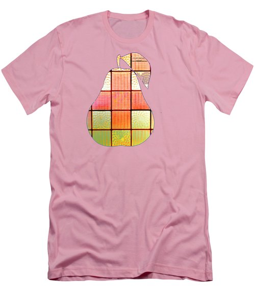 Stained Glass Pear Men's T-Shirt (Athletic Fit)