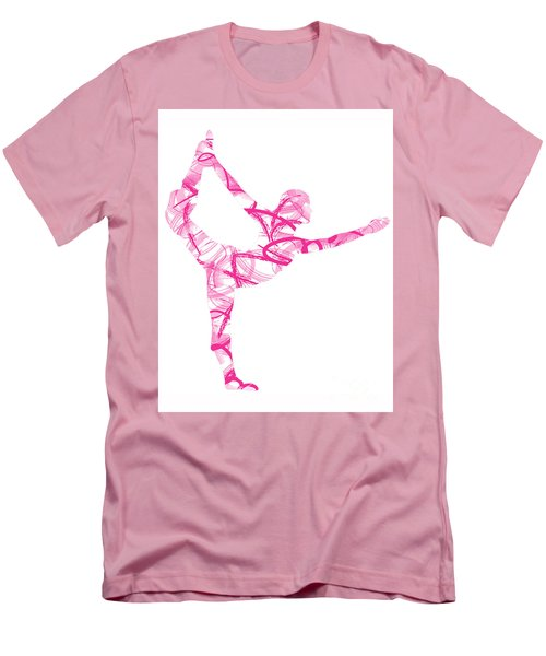 Yoga Pose Asana Standing Bow Pose Men's T-Shirt (Athletic Fit)