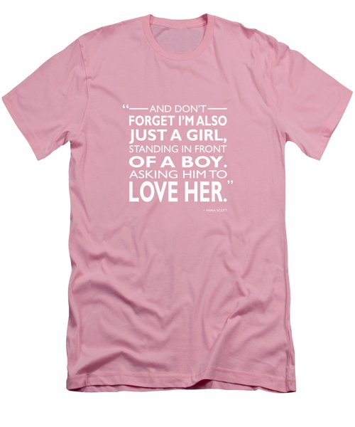 Standing In Front Of A Boy Men's T-Shirt (Athletic Fit)