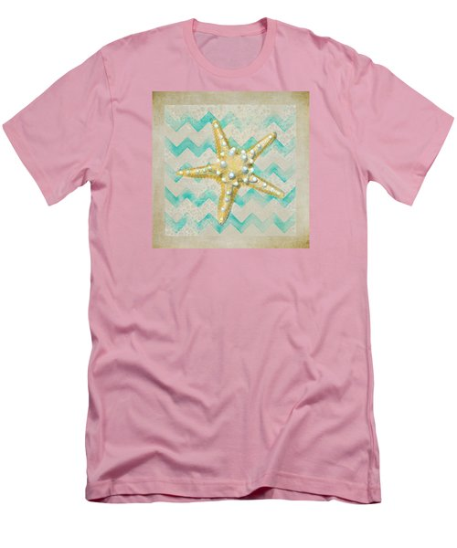 Starfish In Modern Waves Men's T-Shirt (Athletic Fit)
