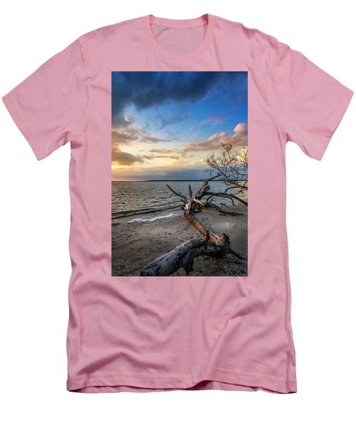 Men's T-Shirt (Slim Fit) featuring the photograph Stormy Sunset by Marvin Spates