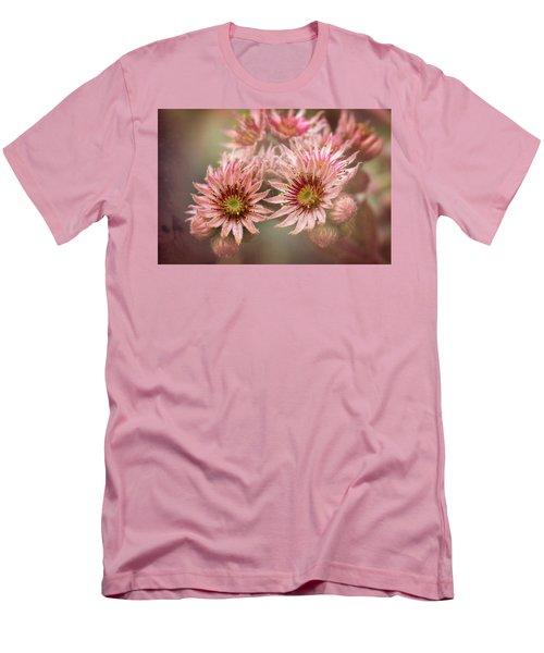 Succulent Flowers - 365-100 Men's T-Shirt (Slim Fit) by Inge Riis McDonald