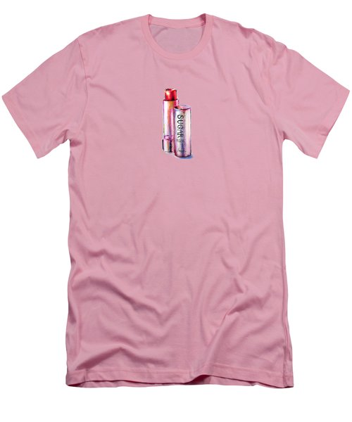 Sugar Rose Men's T-Shirt (Slim Fit) by Willow Heath