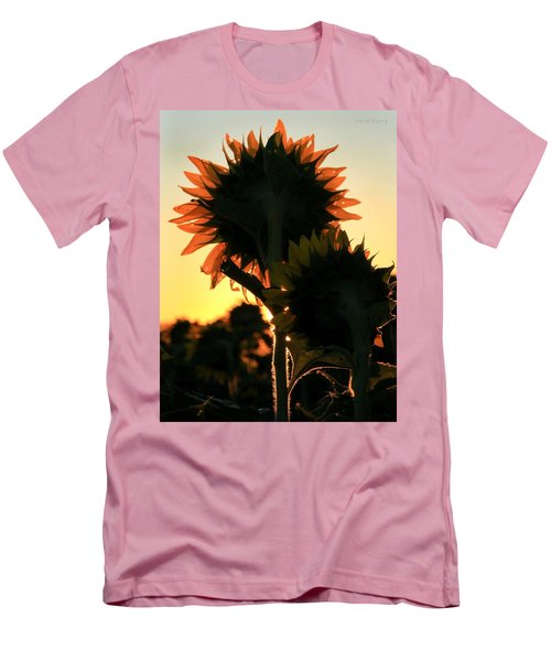 Men's T-Shirt (Slim Fit) featuring the photograph Sunflower Greeting  by Chris Berry