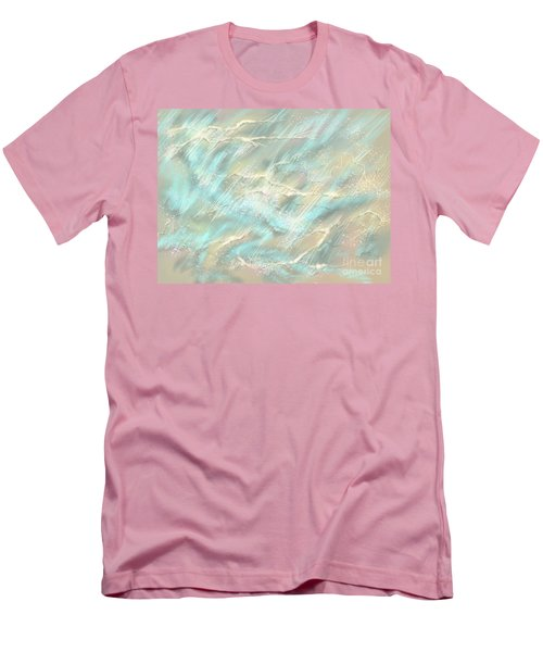 Men's T-Shirt (Slim Fit) featuring the digital art Sunlight On Water by Amyla Silverflame