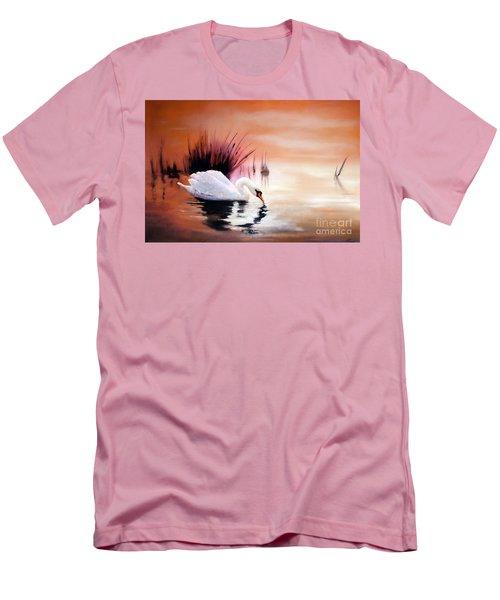 Sunrise On Swan Lake Men's T-Shirt (Slim Fit) by Michael Rock