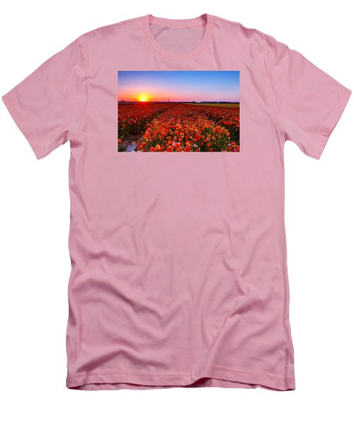 Sunset At Nuriot Field Men's T-Shirt (Athletic Fit)