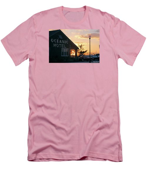 Sunset At Oceanic Motel Men's T-Shirt (Slim Fit) by Robert Banach