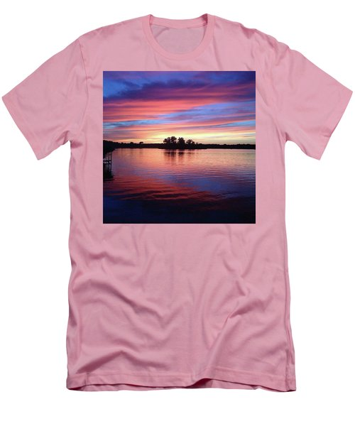 Men's T-Shirt (Slim Fit) featuring the photograph Sunset Dreams by Rebecca Wood
