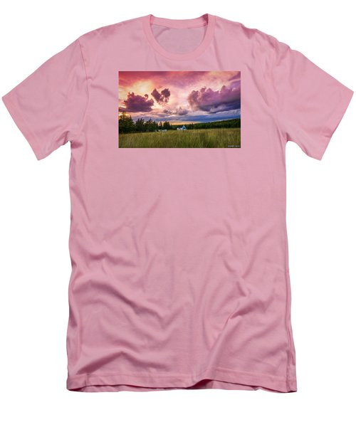 Sunset In Rear Intervale Men's T-Shirt (Slim Fit) by Ken Morris