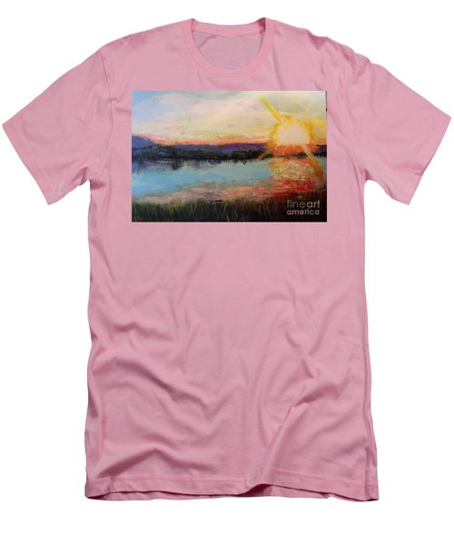 Sunset Men's T-Shirt (Slim Fit) by Marlene Book