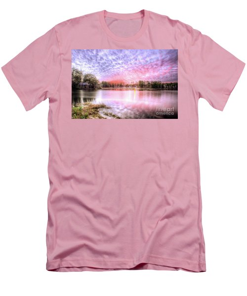 Sunset On Flint Creek Men's T-Shirt (Slim Fit) by Maddalena McDonald
