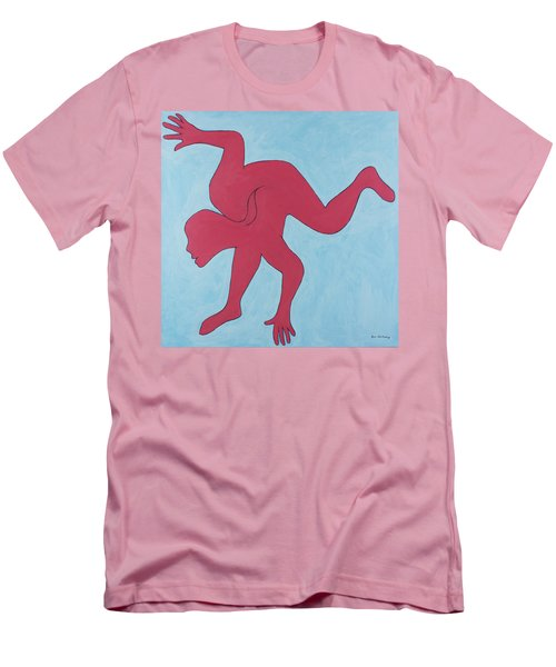 Men's T-Shirt (Athletic Fit) featuring the painting Sunset Surfer by Ben Gertsberg