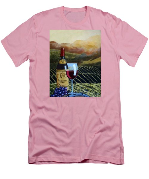 Sunset W/beaujolais Men's T-Shirt (Slim Fit) by Linda Apple