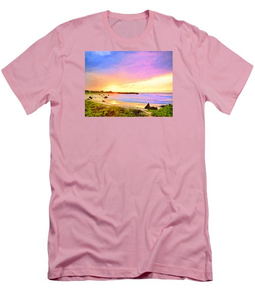 Sunset Walk Men's T-Shirt (Slim Fit) by Dominic Piperata