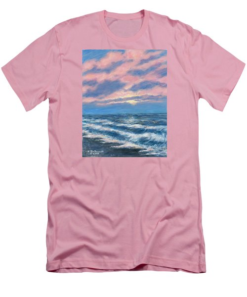 Surf And Clouds Men's T-Shirt (Slim Fit) by Kathleen McDermott