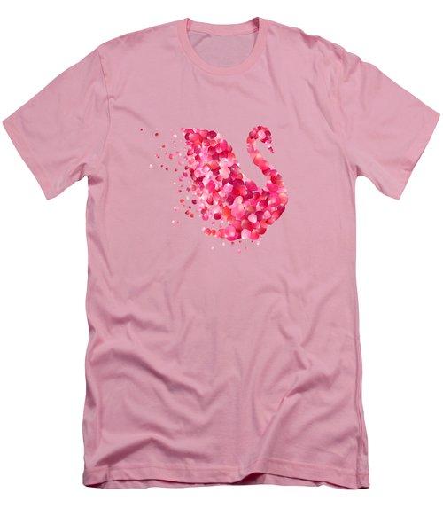 Swan Men's T-Shirt (Slim Fit) by Aloke Creative Store