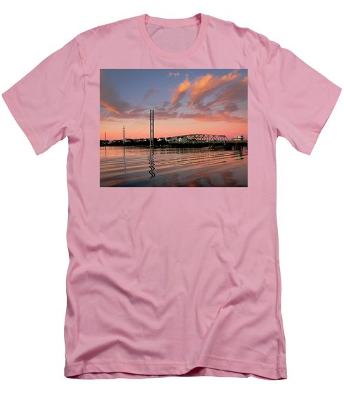 Swing Bridge At Sunset, Topsail Island, North Carolina Men's T-Shirt (Athletic Fit)
