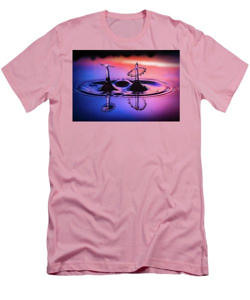 Men's T-Shirt (Slim Fit) featuring the photograph Synchronized Liquid Art by William Lee