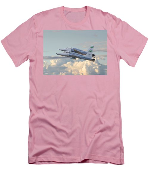 Men's T-Shirt (Slim Fit) featuring the photograph Talon T38 - Supersonic Trainer by Pat Speirs