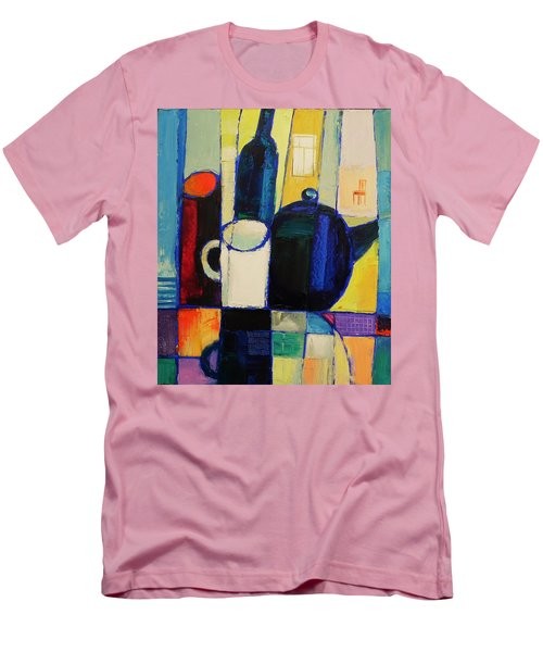 Men's T-Shirt (Slim Fit) featuring the painting Tea by Mikhail Zarovny